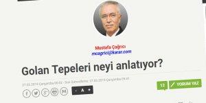 Mustafa Hoca Golan'ın Faturasını Kime Çıkartıyor?