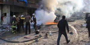 Katil İran ve Esed Güçleri İdlib'de Pazar Yerine Saldırdı