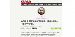 Başka Dikta Rejimlerinin Varlığı Kemalist Tek Parti Diktatörlüğüne Mazeret Olur mu?
