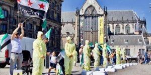 Hollanda'da Suriye İçin Dayanışma Gösterisi