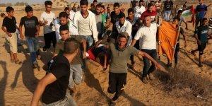 İşgal Güçleri Gazze Sınırında 30'u Gerçek Mermiyle Olmak Üzere 54 Kişiyi Yaraladı