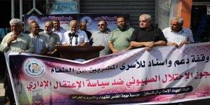 Gazze'de Filistinli Tutuklulara Destek Gösterisi Düzenlendi