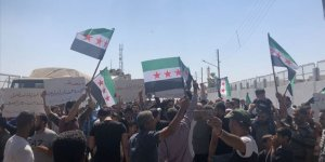 Tel Rıfatlılar YPG/PKK ve Esed Rejimini Protesto Etti