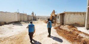 İdlib'de Engelli ve Yetimler İçin 100 Konutun İnşasına Başlandı