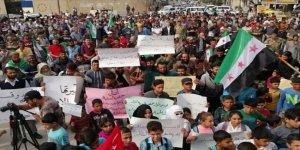 Esed Rejimi Münbiç ve Cerablus'ta Protesto Edildi