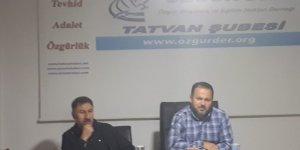 Özgür-Der Tatvan Şubesi'nde ''İslam Medeniyeti ve Medeniyet Algımız'' Konuşuldu