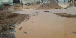 Sağanak Yağmur Atme ve Sarmada Kamplarını Sular Altında Bıraktı