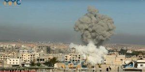 Katil Esed ve İşgalci Rusya'nın Bombardımanları Halkı Göçe Sürüklüyor