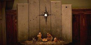 """Banksy'den """"Hz. İsa'nın Doğumu ile İsrail'in Ayırım Duvarını"""" Yorumlayan Eser"""