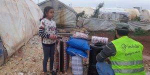 Kamplarda Kömür ve Soba Dağıtımı Yapıldı