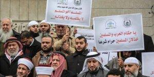 Gazze'de Uygur Müslümanlara Destek Gösterisi