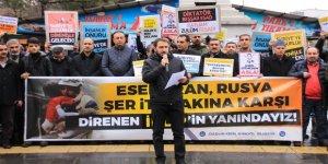 İşgalci Rusya'nın Saldırıları Bingöl'de Protesto Edildi