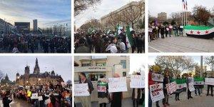 Rusya'nınİdlib'tekiKatliamları Dünyanın Birçok Yerinde Protesto Edildi