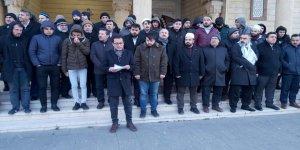Şeyh İkrime Sabri'ye Mescid-i Aksa'yı Yasaklayan Siyonist İsrail Kahramanmaraş'ta Protesto Edildi