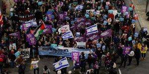 İsrail'de ABD'nin Sözde Barış Planı Karşıtı Gösteri