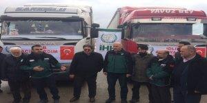 Kastamonu'dan İdlib'e İki Tır Yardım