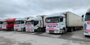 Çorum İHH İdlib'e 16 Tır İnsani Yardım Malzemesi Gönderdi