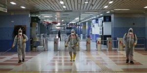 Ankara'da Metro ve Ankaray İstasyonlarında 'Virüs' Temizliği