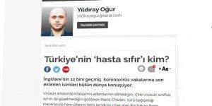 Türkiye ve Dünyada Koronavirüs Vakaları ve 'Hasta Sıfır' Kavramı