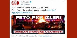 """A Haber'den Dünya Medyasını Kıskandıran Analiz: """"ABD'deki Gösterilerde FETÖ ve PKK İzi"""""""
