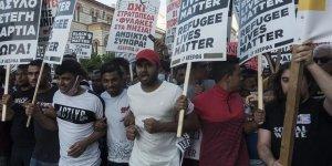 Yunanistan'da Mültecilere Destek Gösterisi