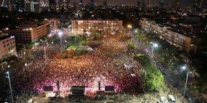 Tel Aviv'de Netanyahu Hükümeti Karşıtı Protesto Düzenlendi