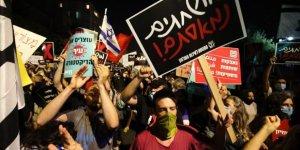 Siyonist İsrail'de Netanyahu Karşıtı Gösteriler Devam Ediyor