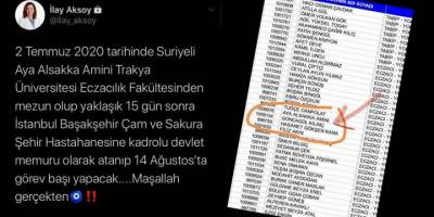Irkçı İlay Aksoy mezun olup atanan Suriyeli kızı hedef gösterdi!