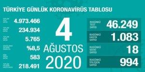 Türkiye'de korona vaka sayısı yeniden binin üzerinde