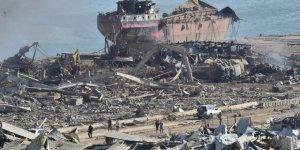 Lübnan'da patlamadan geriye enkaz kent kaldı
