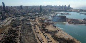 Beyrut'taki patlamanın geride bıraktığı yıkım havadan görüntülendi