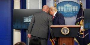 Beyaz Saray'da silah sesleri: Trump toplantıyı terk etti