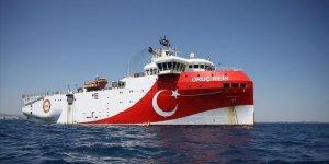 Oruç Reis gemisinin Doğu Akdeniz'deki çalışma süresi 12 Eylül'e kadar uzatıldı