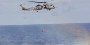 TCG Gemlik Fırkateyni ile Libya açıklarında eğitim