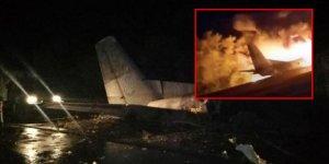 Ukrayna'da askeri uçak düştü: 22 ölü