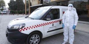 Adana'da Kovid-19 hastalarını taşıyacak taksiler hizmete sunuldu