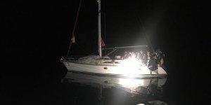 Yunistan'ın Türkiye kara sularına ittiği 54 sığınmacı kurtarıldı