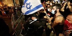 Tel Aviv'deki Netanyahu karşıtı gösteriler kısıtlamalara rağmen sürüyor