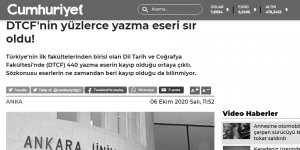 Kemalist Cumhuriyet yazma eserlerin kaybolmasından şikayet ediyor!