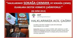 HDP, müsebbibi olduğu 6-8 Ekim olaylarını Erdoğan'a mal etmeye çalışıyor