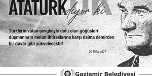 CHP'li belediyeden dev hizmet: Nutuk panolarda