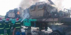 ABD'nin Afganistan'dan çektiği askeri araçlar Pakistan'da yakıldı
