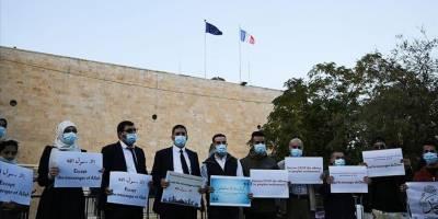 Kudüs'te Fransa ve Macron'un İslam karşıtlığı protesto edildi