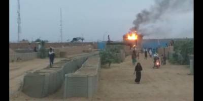 Mali'de göstericiler Fransa üssünü ateşe verdi