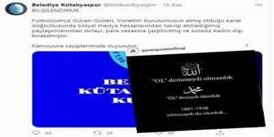 Belediye Kütahyaspor'dan ifade özgürlüğü tahammülsüzlüğü