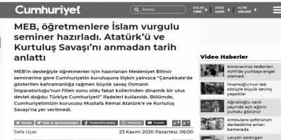 İslam vurgulu seminer İslam düşmanlarını rahatsız etmiş!