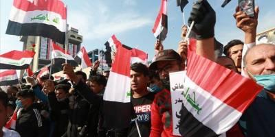 Bağdat'ta Sadr yanlıları erken seçim talebiyle gösteri yaptı