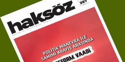 Haksöz Dergisi Aralık 2020 sayısı çıktı