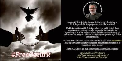 Mehmet Ali Öztürk'e bu akşam destek kampanyası yapılacak