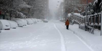 İspanya'da kar fırtınası